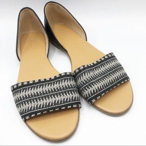 J. Crew Morgan peep toe d'orsay woven sandals